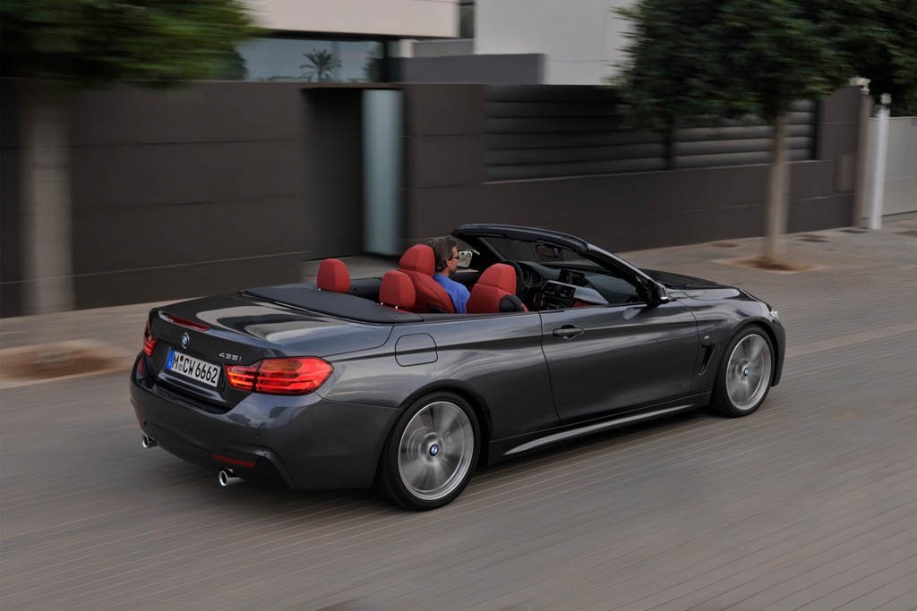 bmw serie 4 cabrio immagini ufficiali e dati tecnici. Black Bedroom Furniture Sets. Home Design Ideas