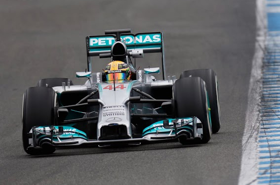 Mercedes Test Jerez F1 2014 day 3