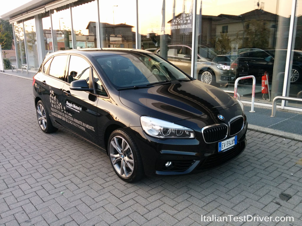 test drive bmw serie 2 active tourer 1 italiantestdriver. Black Bedroom Furniture Sets. Home Design Ideas